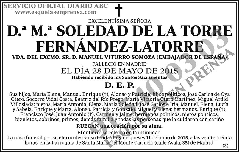 M.ª Soledad de la Torre Fernández-Latorre
